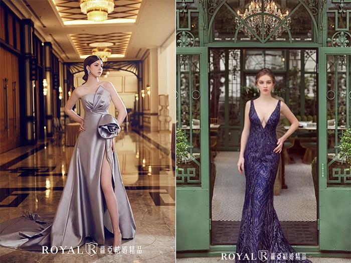 紅毯禮服-宴客禮服-立體剪裁-亮片-2020婚紗流行趨勢-台北蘿亞婚紗
