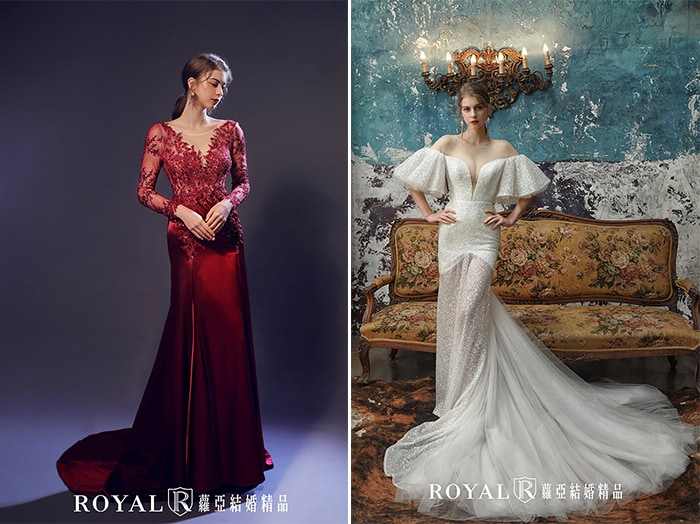 紅毯禮服-宴客禮服-長袖-特殊袖型-2020婚紗流行趨勢-台北蘿亞婚紗