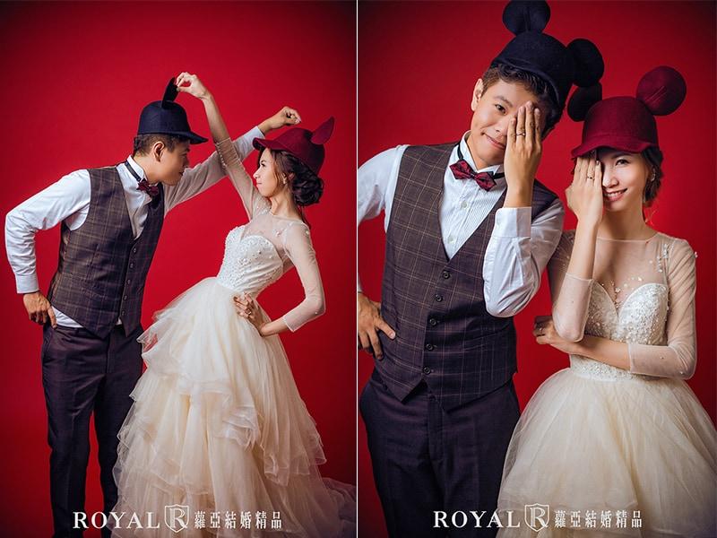 米奇帽子-新娘帽子造型-婚紗造型-新娘造型-台北新秘推薦-蘿亞婚紗