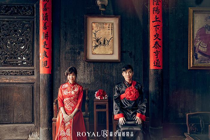 台北婚紗景點-台北特色建築-中式婚紗景點-林安泰古厝-婚紗照推薦-台北-蘿亞婚紗