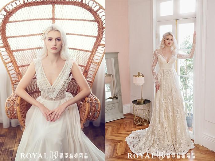 婚紗禮服-2021婚紗款式-2021婚紗流行趨勢-深V禮服-深V婚紗-婚紗禮服款式-禮服風格-台北婚紗推薦-蘿亞婚紗