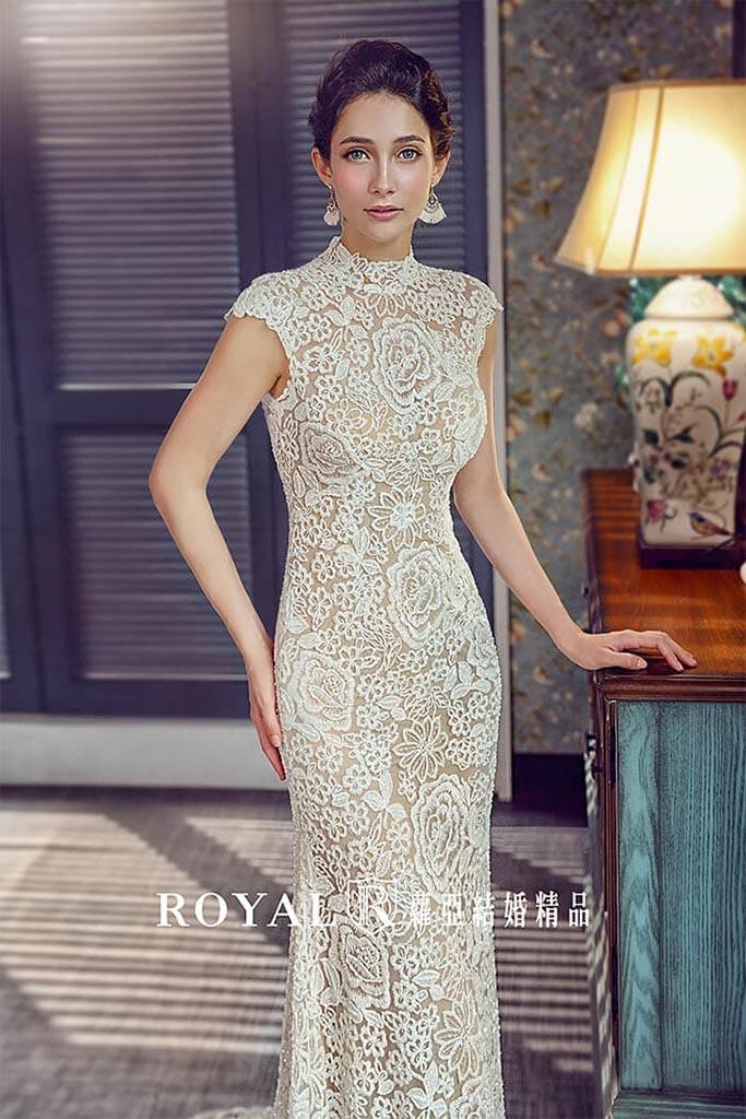 白紗-禮服-白紗款式-古典蕾絲白紗-婚紗照-拍婚紗-台北-蘿亞婚紗