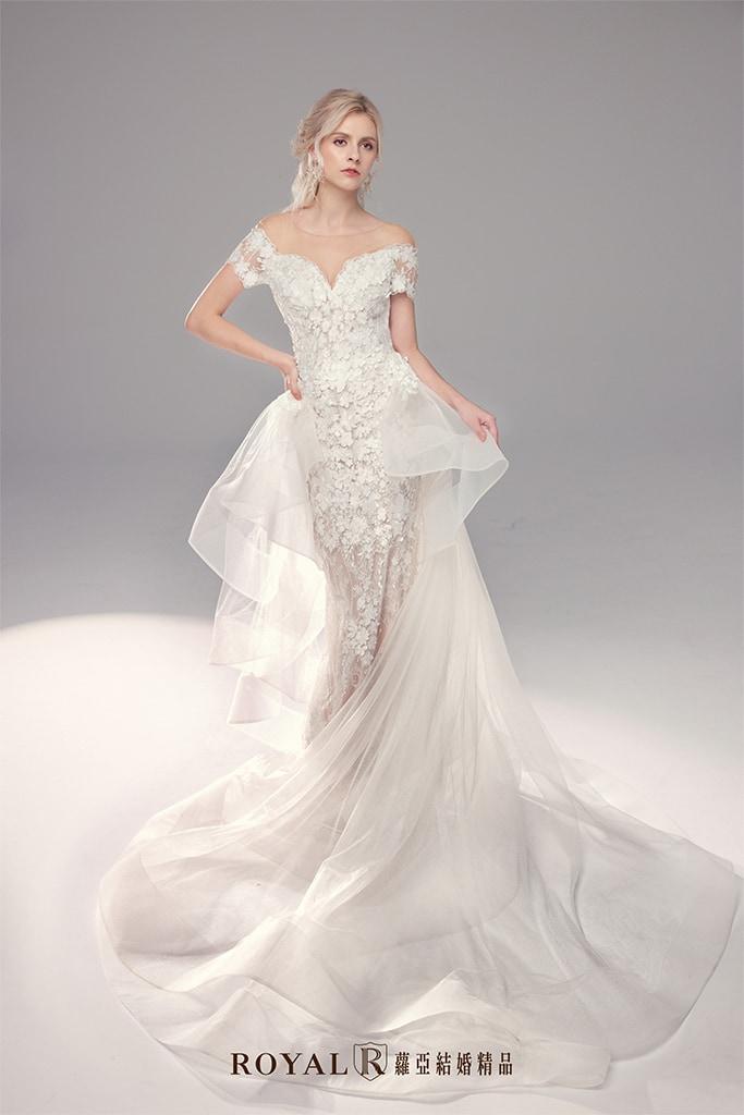 白紗-禮服-白紗款式-女神氣勢白紗-婚紗照-拍婚紗-台北-蘿亞婚紗