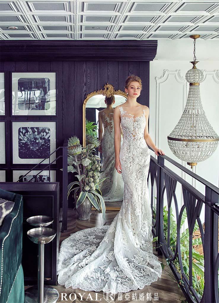 白紗-禮服-白紗款式-法式魚尾白紗-婚紗照-拍婚紗-台北-蘿亞婚紗