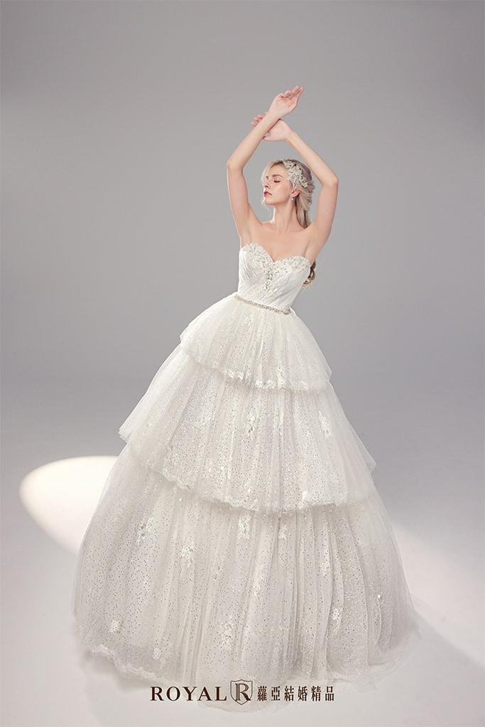 白紗-禮服-白紗款式-澎裙氣勢白紗-婚紗照-拍婚紗-台北-蘿亞婚紗