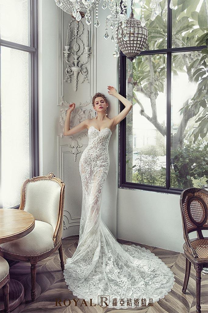 白紗-禮服-白紗款式-魚尾裸紗白紗-婚紗照-拍婚紗-台北-蘿亞婚紗