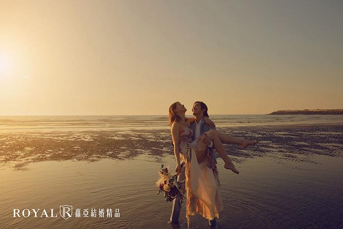 婚紗照風格-逆光婚紗-唯美婚紗-夕陽-海邊-4-台北-婚紗照-拍婚紗-蘿亞婚紗