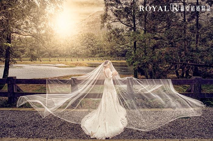 長頭紗-頭紗婚紗照-氣勢婚紗照-簡單路線-森林-台北-婚紗照-拍婚紗-蘿亞婚紗