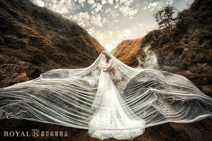 長頭紗-頭紗婚紗照-氣勢婚紗照-飄逸路線-1-台北-婚紗照-拍婚紗-蘿亞婚紗