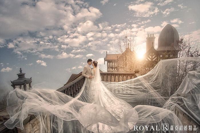 長頭紗-頭紗婚紗照-氣勢婚紗照-飄逸路線-2-台北-婚紗照-拍婚紗-蘿亞婚紗